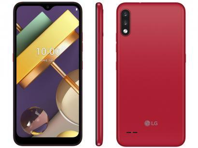 "Smartphone LG K22+ 64GB Red 4G Quad-Core 3GB RAM - Tela 6,2"" Câm. Dupla + Selfie 5MP Dual Chip"