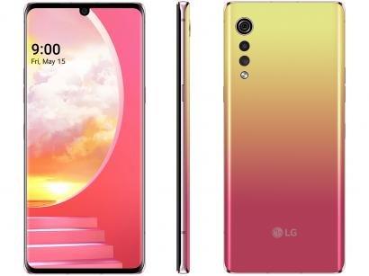 "Smartphone LG Velvet 128GB Illusion Sunset Octa - Core 6GB RAM Tela 6,8"" Câm. Tripla + Selfie 16MP"