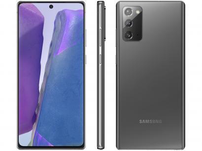 "Smartphone Samsung Galaxy Note 20 256GB Mystic - Gray 8GB RAM Tela 6,7"" Câm. Tripla + Selfie 10MP"