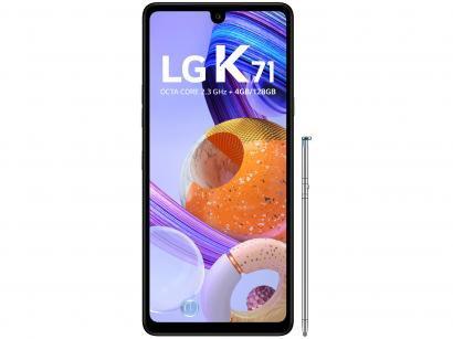 "Smartphone LG K71 128GB White 4G Octa-Core - 4GB RAM 6,8"" Câm. Tripla +..."
