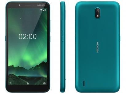 "Smartphone Nokia C2 16GB Verde 4G 1GB RAM 5,7"" - Câm. 5MP + Selfie 5MP Dual Chip"