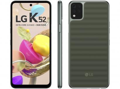 "Smartphone LG K52 64GB Verde 4G Octa-Core 3GB RAM - Tela 6,6"" Câm. Quádrupla + Selfie 8MP Dual Chip"