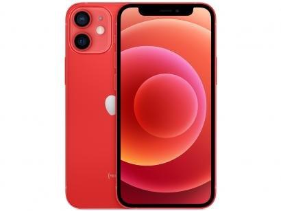"iPhone 12 Mini Apple 64GB (PRODUCT)RED 5,4"" - Câm. Dupla 12MP iOS"