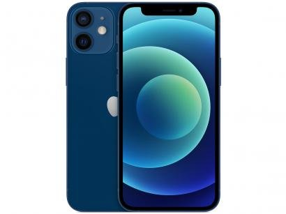 "iPhone 12 Mini Apple 64GB Azul 5,4"" - Câm. Dupla 12MP iOS"