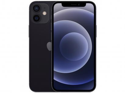 "iPhone 12 Mini Apple 256GB Preto 5,4"" - Câm. Dupla 12MP iOS"