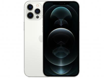 "iPhone 12 Pro Max Apple 256GB Prateado 6,7"" - Câm. Tripla 12MP iOS"