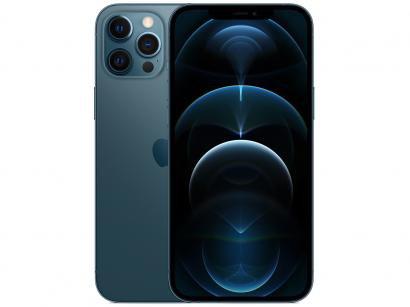 "iPhone 12 Pro Max Apple 512GB Azul-Pacífico 6,7"" - Câm. Tripla 12MP iOS"