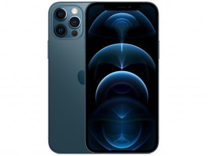 "iPhone 12 Pro Apple 256GB Azul-Pacífico 6,1"" - Câm. Tripla 12MP iOS"
