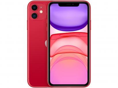 """iPhone 11 Apple 256GB (PRODUCT)RED 6,1"""" 12MP iOS - MHDR3BZ/A"""