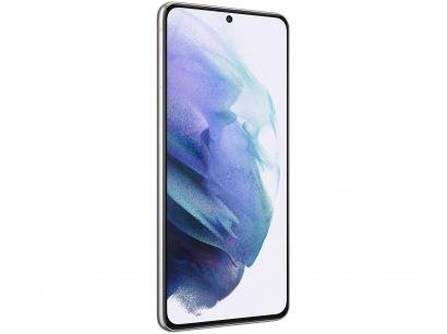 "Smartphone Samsung Galaxy S21 128GB Branco 5G - 8GB RAM Tela 6,2"" Câm. Tripla + Selfie 10MP"