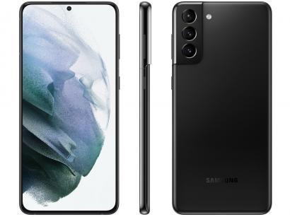 "Smartphone Samsung Galaxy S21+ 256GB Preto 5G - 8GB RAM Tela 6,7"" Câm. Tripla + Selfie 10MP"