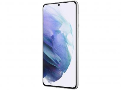 "Smartphone Samsung Galaxy S21+ 256GB Prata 5G - 8GB RAM Tela 6,7"" Câm. Tripla + Selfie 10MP"