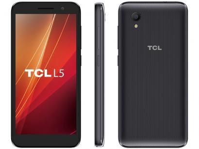 """Smartphone TCL L5 16GB Preto 4G Quad-Core - 1GB RAM Tela 5"""" Câm. 8MP + Selfie 5MP"""