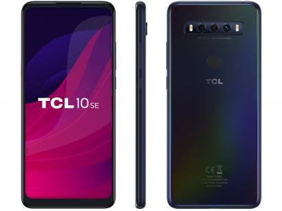 "Smartphone TCL 10 SE 128GB Azul 4G Octa-Core - 4GB RAM Tela 6,52"" Câm. Tripla + Selfie 8MP"