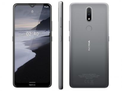 "Smartphone Nokia 2.4 64GB Cinza 4G Octa-Core - 3GB RAM Tela 6,5"" Câm. Dupla + Selfie 5MP"