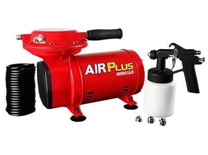 Compressor de Ar Schulz Air Plus com Kit Pintura - Pressão Máxima 40 lbs...