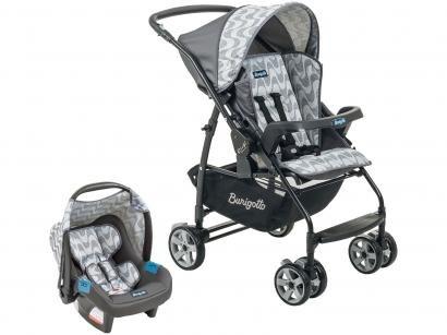Carrinho de Bebê com Bebê Conforto Burigotto - Travel System Rio K Touring Evolution 0 a 15kg