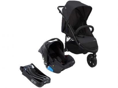 Carrinho de Bebê com Bebê Conforto Infanti Travel - System Collina TRIO Black Style 3 Rodas 0 a 15kg