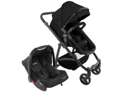 Carrinho de Bebê com Bebê Conforto e Moisés Voyage - Travel System VIP 0 a 15kg