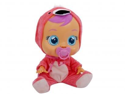 Boneca Flamy Cry Babies que Chora com Acessórios - Multikids