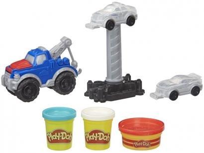 Massinha Play-Doh Caminhão de Reboque Hasbro - com Acessórios