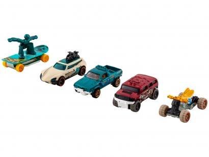 Kit 5 Carrinhos Hot Wheels - 1806 Mattel