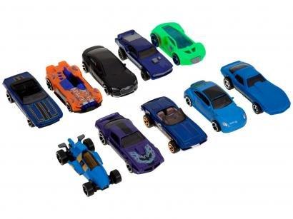Kit 10 Carrinhos Hot Wheels Mattel - 54886