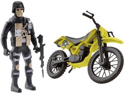 Moto de Brinquedo Comando Trail Roda Livre - Samba Toys com Acessório