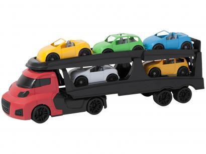Caminhão de Brinquedo Cegonha Invictus - Cardoso Toys 5 Peças