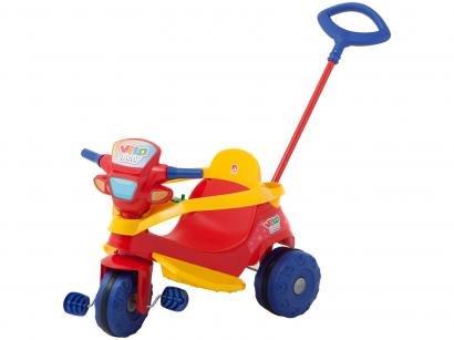 Triciclo Infantil Velobaby com Empurrador - Bandeirante
