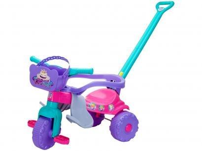 Triciclo Infantil Pic-Nic com Empurrador Cestinha - Magic Toys