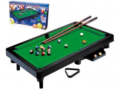 Mini Mesa de Sinuca Braskit Snooker de Luxo - 41 x 68cm