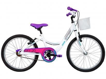 Bicicleta Infantil Aro 20 Caloi Ceci Branca - com Cesta Freio V-Brake