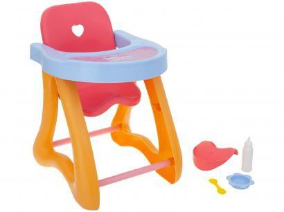 Cadeira de Papinha para Boneca Cotiplás - Coleção Ninos Reborn Papinha Baby Ninos
