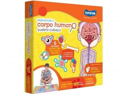 Quebra-cabeça 120 Peças Ciências - Explorando o Corpo Humano Toyster