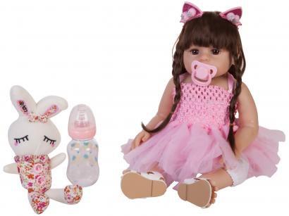 Boneca Reborn Princesa 45cm com Acessórios - Laura Baby
