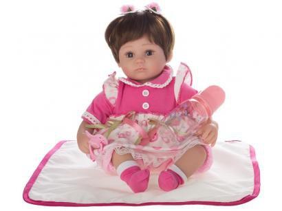 Boneca Reborn Charlotte 40cm com Acessórios - Laura Baby