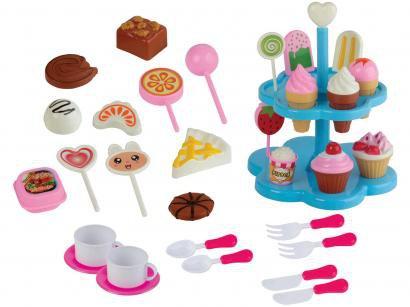 Comidinha de Brinquedo Food Delivery Sorveteria - 32 Peças Braskit