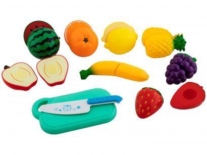 Comidinha de Brinquedo Creative Fun - Feirinha Divertida de Frutas 10 Peças Multikids