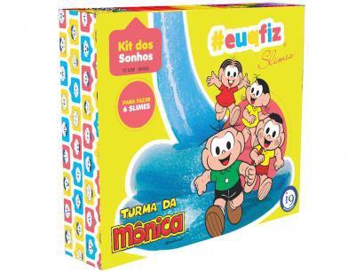 Conjunto de Slimes Turma da Mônica - #euqfiz Kit dos Sonhos de Slimes i9 Brinquedos