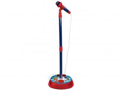 Microfone Infantil Super Wings - com Pedestal Fun