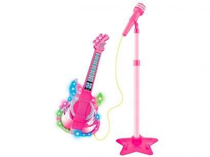 Guitarra de Brinquedo com Microfone Rock Show - DM Toys