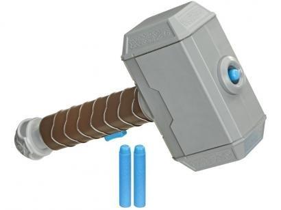 Nerf Lança Dardos Marvel Avengers Power Moves Thor - Hasbro 3 Dardos