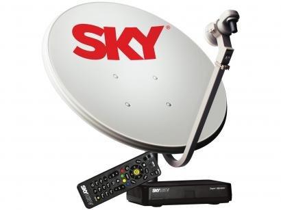 Kit Antena e Receptor Sky Pré-Pago