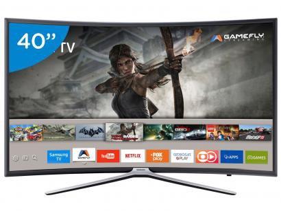 "Smart TV LED Curva 40"" Samsung Full HD 40K6500 - Conversor Digital 3 HDMI 2 USB..."
