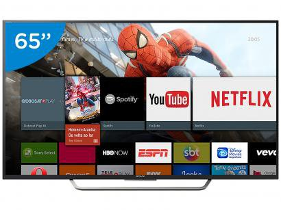 "Smart TV LED 65"" Sony 4K/Ultra HD KD-65X7505D - Conversor Digital Wi-Fi 4 HDMI..."