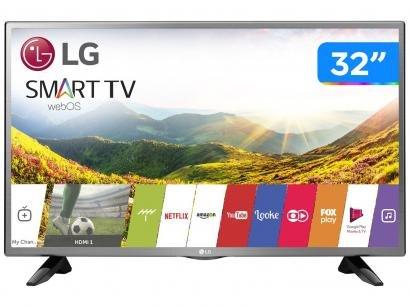 "Smart TV LED 32"" LG 32LJ600B WebOS - Conversor Digital Wi-Fi 2 HDMI 1 USB"