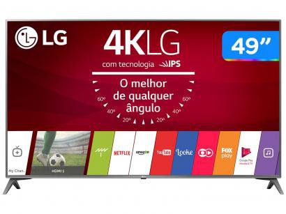 "Smart TV LED 49"" LG 4K/Ultra HD 49UJ6565 WebOS - Conversor Digital Wi-Fi 4 HDMI..."