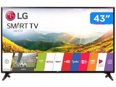 "Smart TV LED 43"" LG Full HD 43LJ5550 WebOS - Conversor Digital 2 HDMI 1 USB"