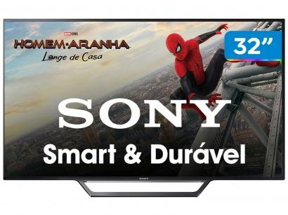"""Smart TV LED 32"""" Sony KDL-32W655D - Conversor Digital Wi-Fi 2 HDMI 2 USB DLNA"""